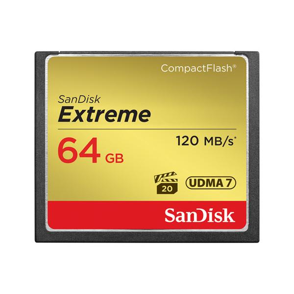 SanDisk 64GB Extreme CompactFlash Memory Card