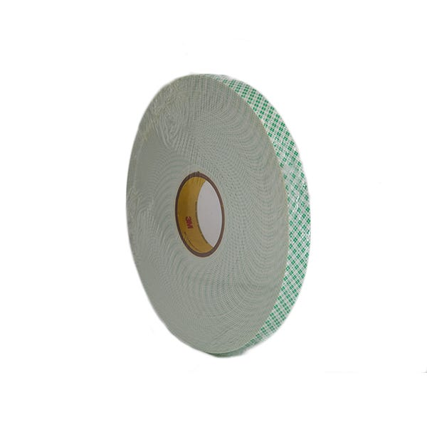 "3M 1"" Double-Sided Foam Adhesive Tape - White"