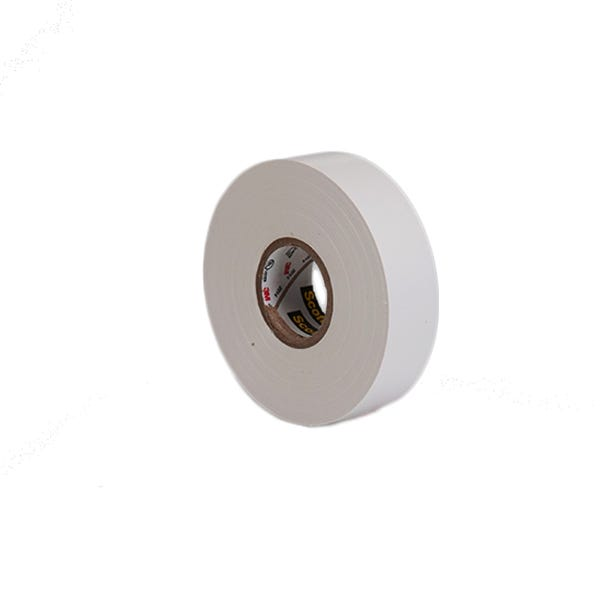 "3M 3/4"" Scotch Vinyl Electrical Tape - White"