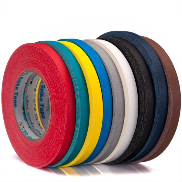 "Pro-Gaff 1/2"" Gaffer Tape (Cloth Spike Tape) -  10 Colors - 1/2"" x 50 Yard"