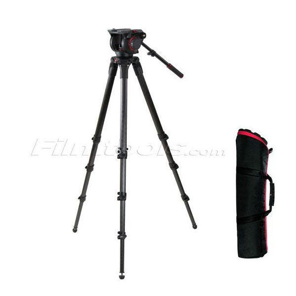 Manfrotto Pro Single Carbon Fiber Tripod and Fluid 509HD Fluid Head  Kit 100 509HD,536K