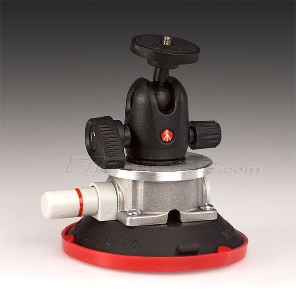 "Gripper Mini 494 - The Filmtools 3/8 4.5"" Vacuum / Suction Cup Camera Mount"
