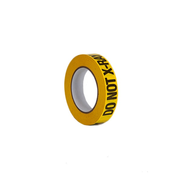 """ProTapes 1"""" Do Not X-Ray Label Adhesive Tape - Yellow"""