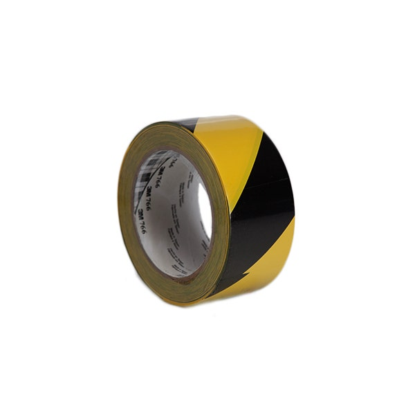 "3M 2"" Hazard Stripe Adhesive Tape - Black & Yellow"