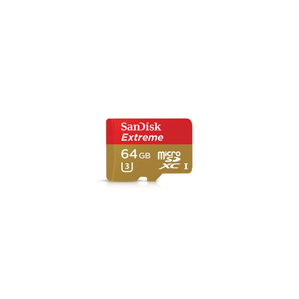 SanDisk Extreme 64GB microSDXC UHS-I/U3 Memory Card