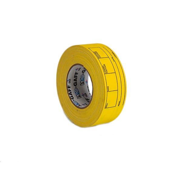 """Pro-Gaff 2"""" Magazine and Film Can Label Gaffer Tape - Yellow"""