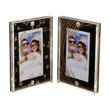 FUJIFILM INSTAX Large Magnetic Frames (Black/Gold Stars & Stripes, 2-Pack)