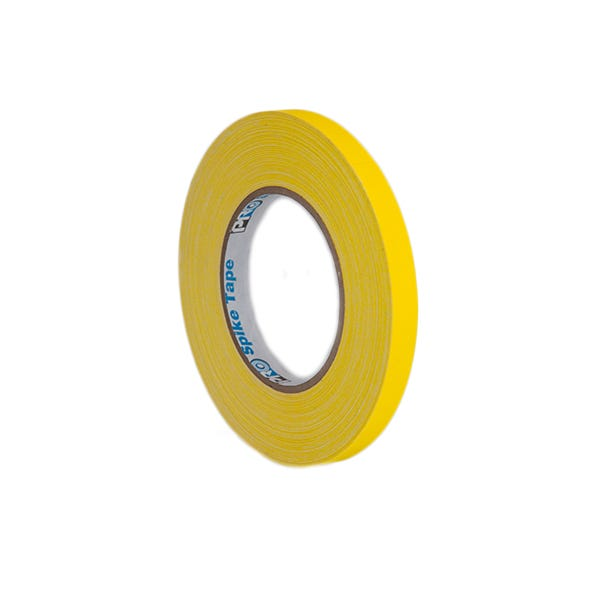 "Pro-Gaff 1/2"" Gaffer Tape (Cloth Spike Tape) - Yellow"