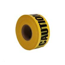 "Filmtools 3"" Caution Label Barricade Tape - Yellow"