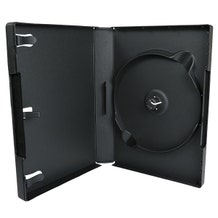 6-Disc Stack-Hub DVD Case - Black - 27mm - w/Overlay & Literature Clips