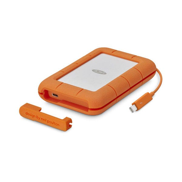 LaCie Rugged Thunderbolt USB-C Portable Hard Drive
