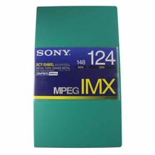 Sony MPEG IMX Video Tape - 124 Minutes - Large Cassette w/ A