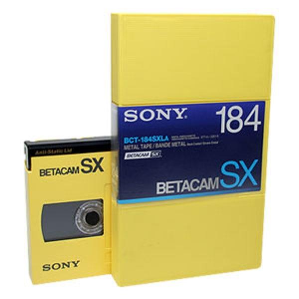 Sony Betacam SX Video Cassette - BCT184SXLA - 184 Min - Larg