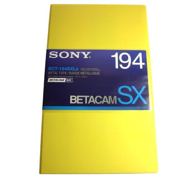 Sony Betacam SX Video Cassette - BCT194SXLA - 194 Min - Larg