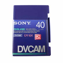 Sony DVCAM with Chip - PDVM40ME - 40 Minute - Mini Cassette