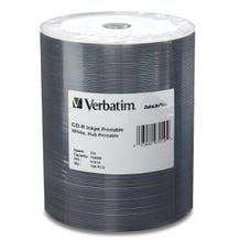 Verbatim 52X White DataLifePlus Inkjet Hub Printable CDR Shrinkwrap - 100pc
