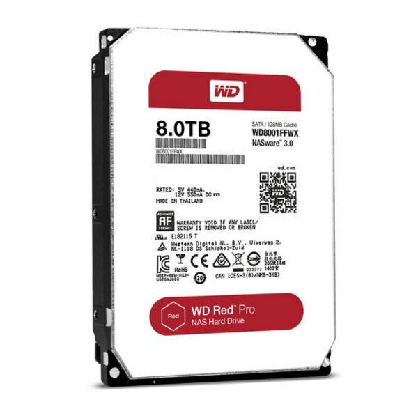 WD Red Pro 8TB NAS Hard Drive - SATA - 7200RPM