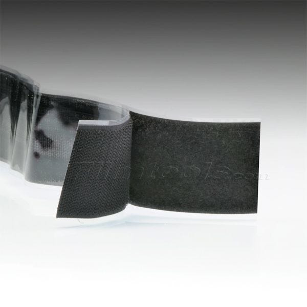 "2"" Black Hook and Loop Adhesive Backed Material - 10 Feet"