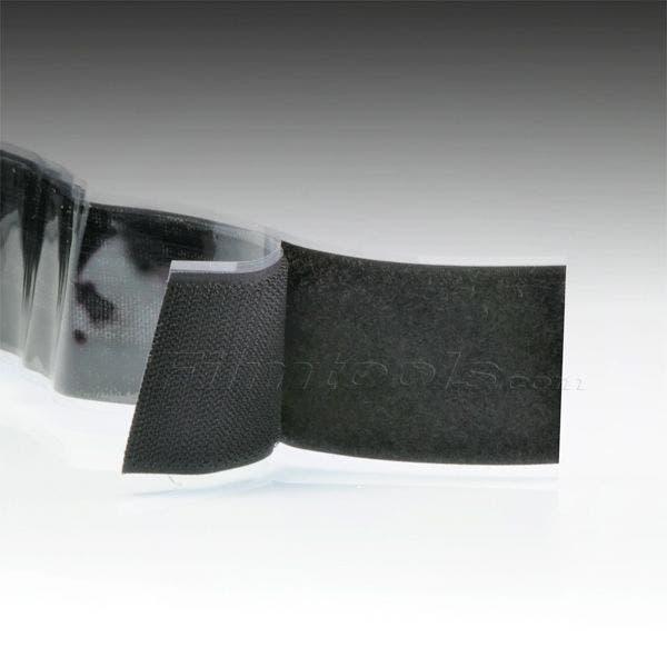 "2"" Black Hook and Loop Adhesive Backed Material - 5 Feet"