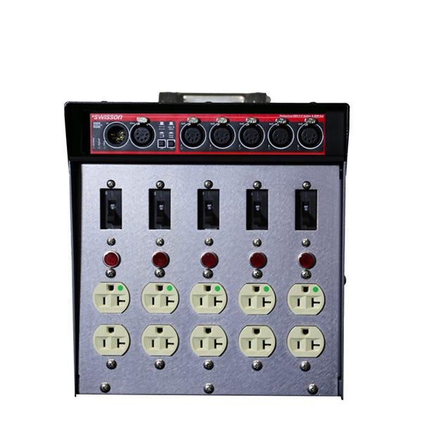 Dadco Black CAT DAD 100-RCAT Lunchbox Distro w/ 5 DMX/RDM Optosplitter + In/Thru