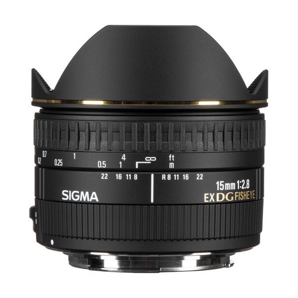 Sigma 15mm f/2.8 EX DG Diagonal Fisheye Lens for EF Mount
