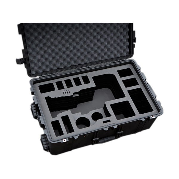 Jason Cases Hard Rolling Case for Sony FS7 Camera with 28-135mm Lens & Back Extension Module