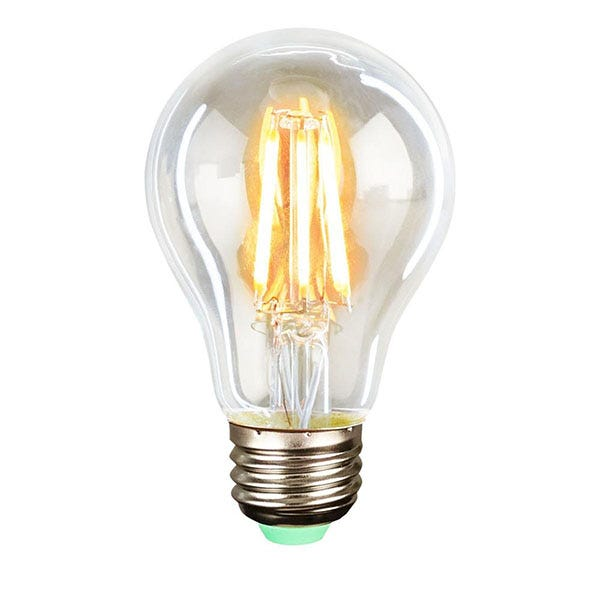 Quasar Science Medium Base Filament LED 6 Watt Bulb - Warm