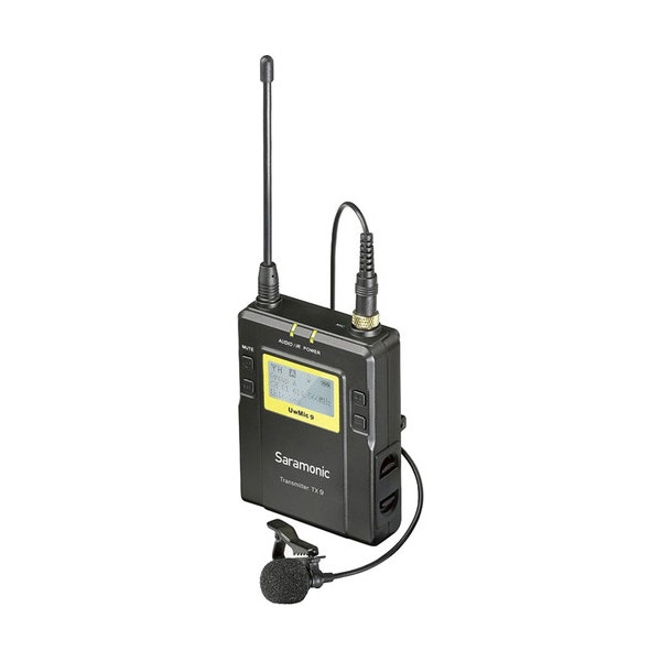 Saramonic TX9 96-Channel Digital UHF Wireless Bodypack Transmitter with Lavalier Mic (514 to 596 MHz)
