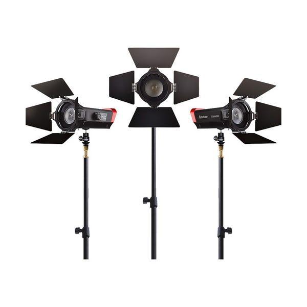 Aputure LS-mini20 Daylight 3-Light Flight Kit with Stands