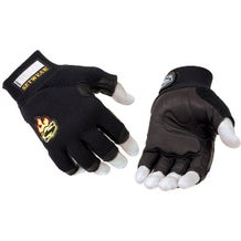 Setwear Black 3/4 Fingerless Leather Gloves - XX-Large