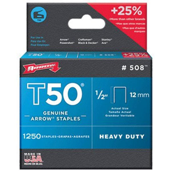 Arrow T50 Staples - 1/2""
