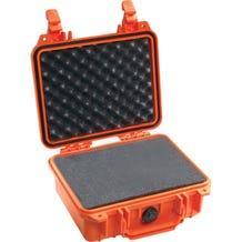 Pelican 1200 Case with Foam - Orange
