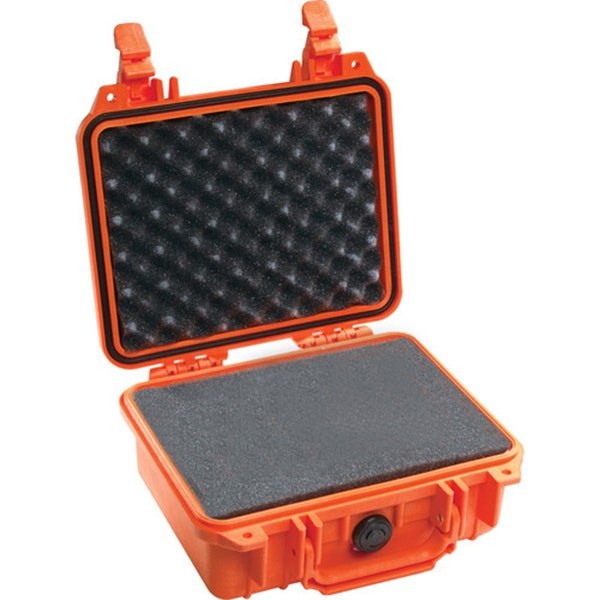 Pelican 1200 Case with Foam - Orange