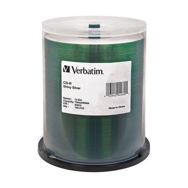 Verbatim 52X Shiny Silver 80min 700MB CD-R - 100pc