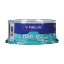 Verbatim Branded DVD-RW - 30pc
