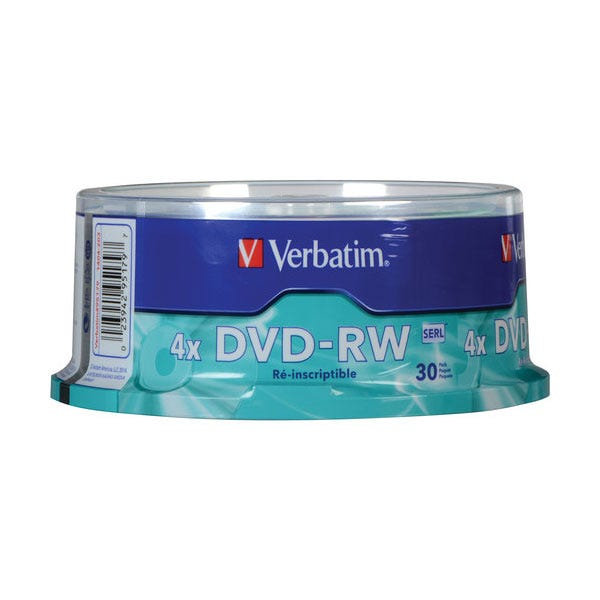 Verbatim Branded DVD-RW - 30pc