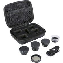 Sirui 4-Lens Kit (Black Wide-Angle, Portrait, Macro, Fisheye, and Circular Polarizer)