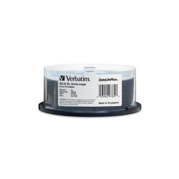 Verbatim 6X White Inkjet Printable 50GB Blu-Ray - 25pc