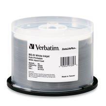 Verbatim 6X White Inkjet Printable 25GB Blu-Ray - 50pc