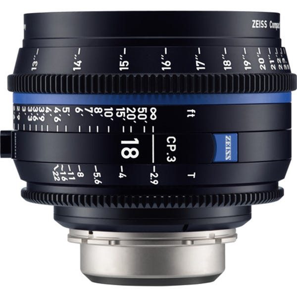 Zeiss CP.3 18mm T2.9 Compact Prime Lens - E Mount