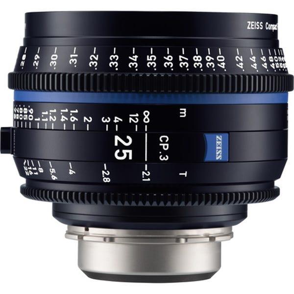 Zeiss CP.3 25mm T2.1 Compact Prime Lens - PL Mount