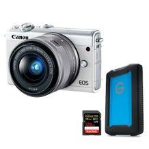Canon EOS M100 Mirrorless Digital Camera Filmmaker Bundle