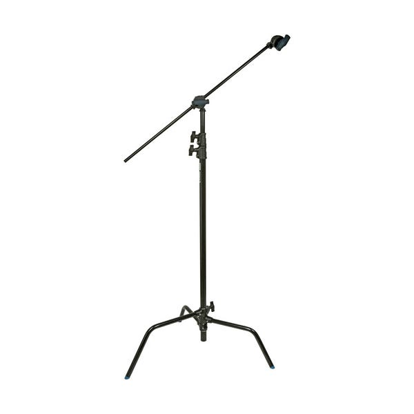 "Avenger 40"" Black C-Stand with Turtle Base, Grip Head & Arm"