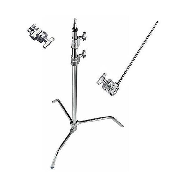 "Avenger 40"" Chrome C-Stand with Sliding Leg, Grip Head & Arm"