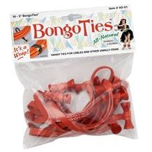 BongoTies Cable Ties - Red, 10 Pack