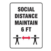 Accuform Social & Physical Distancing Signs
