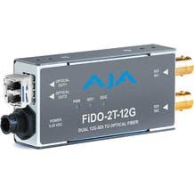 AJA 2-Channel 12G-SDI to Single-Mode LC Fiber Transmitter