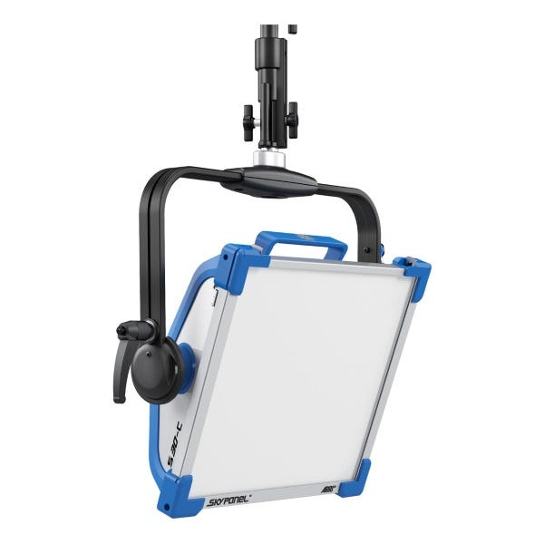 Arri SkyPanel S30-C LED Softlight w/ Manual Yoke (Blue/Silver, Edison)