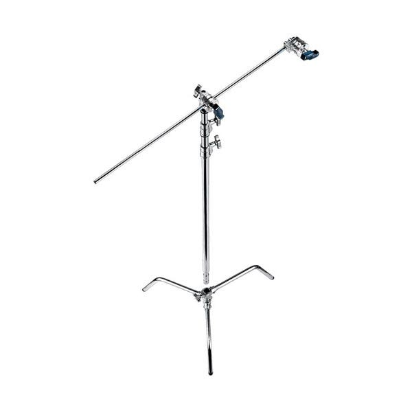 """Avenger 40"""" Chrome C-Stand with Turtle Base, Grip Head & Arm"""