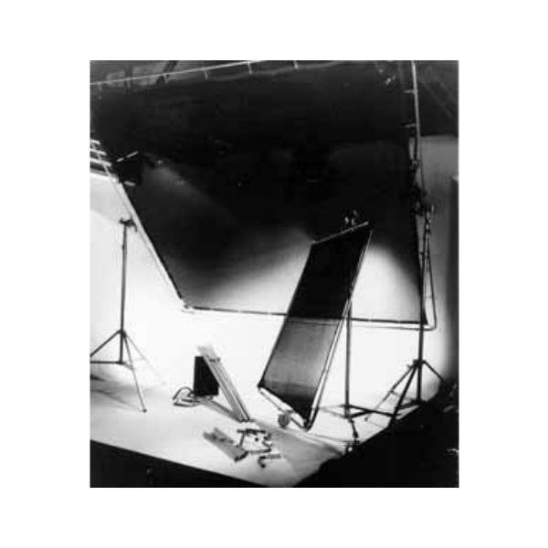 Matthews Studio Equipment 6 x 6' Butterfly/Overhead Fabric - Black China Silk